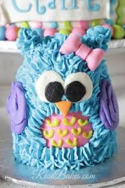 buttercream owl cake cakes and cupcakes for kids birthday party