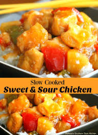 slow cooked sweet and sour chicken recipes from our favorite