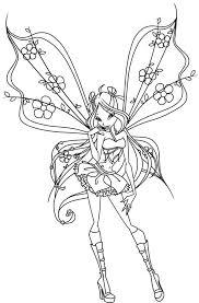 princess bloom keeper dragons flame winx club coloring