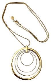 round necklace images Trina turk gold multi round pendant necklace tradesy jpg