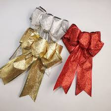 Decorate Christmas Tree Ribbons Bows by Aliexpress Com Buy New Christmas Bow Red Gold Silver Christmas