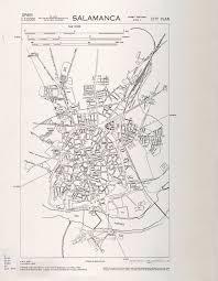 Salamanca Spain Map by