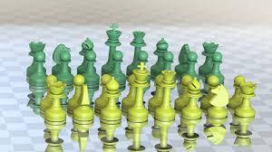3d printed milosaurus staunton style chess set by milosaurus