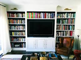 Blue Bookcases Living Room New Rooms Custom Built Ins Cabinets And Bookcases For