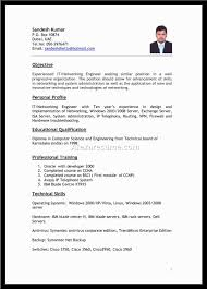 Sample Resume For Net Developer With 2 Year Experience by 1 Year Experience Java Resume Format Virtren Com