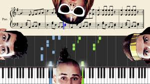 dnce cake by the ocean piano tutorial sheets youtube