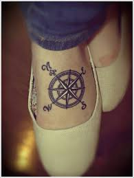 compass tattoo on foot design of tattoosdesign of tattoos