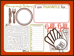 thanksgiving children s activity placemat printable thanksgiving