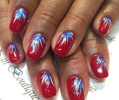 nothing says it u0027s the fourth of july like fireworks on your nails