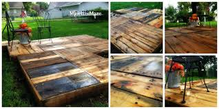 Pallet Furniture Patio by Patio Deck With Pallets Ideas Pallet Patio Organicoyenforma