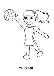 fun play volleyball coloring download u0026 print