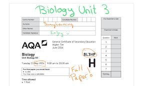 gcse biology aqa unit 3 full paper bl3hp may 2014 youtube