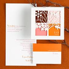 autumn wedding invitations fall and autumn wedding invitations by carlson craft