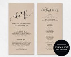 printable wedding program template best 25 wedding program templates ideas on fan