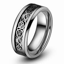 wedding rings men queenwish men engagement ring 8mm celtic tungsten carbide