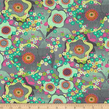 home decor designer fabric amy butler glow peace flower mist discount designer fabric