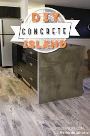 remodelaholic diy concrete kitchen island reveal how to