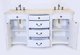 aber 67 inches antique white finish double sink bathroom vanity