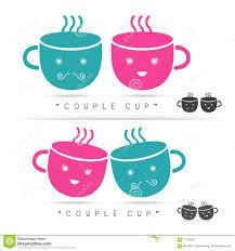 coffee cute cup logo vector stock vector image 70123302