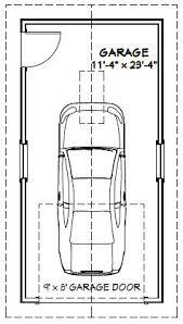12x24 1 car garage 12x24g2 288 sq ft excellent floor plans