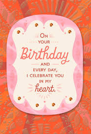 celebrating you in my heart birthday card for a daughter