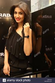 newest model model rukmini maitra wears the newest rado collection during