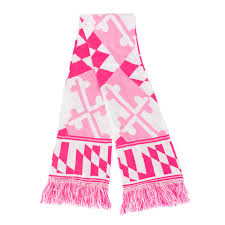 Breast Cancer Flags Maryland Flag Pink Knit Scarf