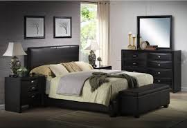 queen size bed complete set faux leather frame bedroom headboard