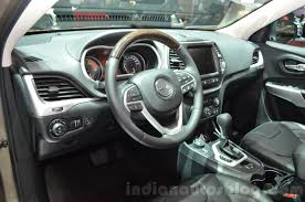 opel jeep jeep cherokee overland interior at the 2016 geneva motor show