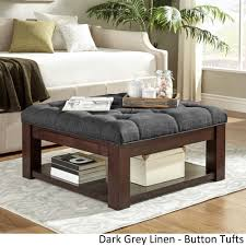espresso square coffee table lennon espresso brown square storage ottoman coffee table by