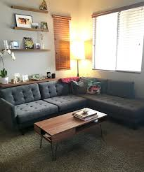 joybird eliot sectional with bumper 2 piece from gloria g