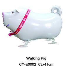 pig balloons 10pcs lot walking pig balloons globos foil balloon helium balloon