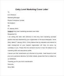 entry level cover letter templates 9 free samples examples