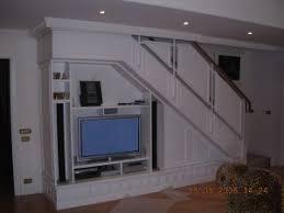 soggiorno sottoscala porta tv falegnameria rd arredamenti s r l roma armadi su