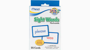 Words Cards Sight Words Flashcards Grades Pk 2 63124 Mead