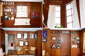 Covering Wood Paneling Should We Paint Wood Paneling Emily Henderson