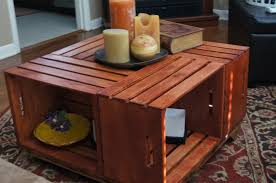 coffee table wonderful wood crate coffee table ideas awesome