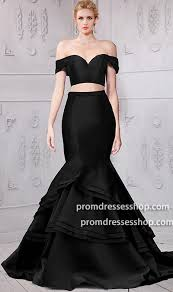 stunning off the shoulder cap sleeves two piece mermaid dress