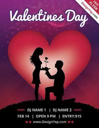 20 lovely u0026 free valentine flyer templates utemplates