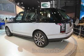 range rover land rover 2016 range rover svautobiography rear three quarter at auto expo 2016