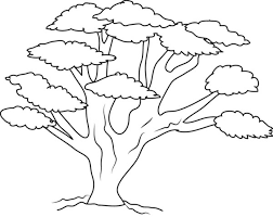Oak Tree With So Many Branch Coloring Page Color Luna Tree Coloring Pages