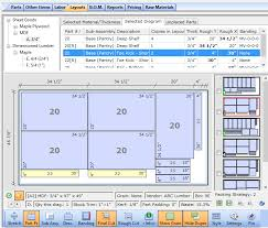 Woodworking Design Software Mac by Cutlist Plus Cutting Diagram Software Sheet Layout Optimizer For