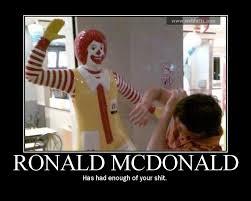 Ronald Mcdonald Phone Meme - master marf motivational monday ronald mcdonald