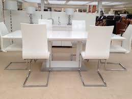 lavinia extending dining table white morale home furnishings