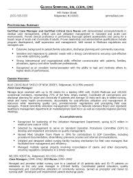 Staff Nurse Job Description For Resume by Sample Resume Critical Care Nurse Contegri Com