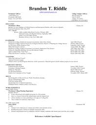 academic resume template for college resume format for college students resume exles resume template