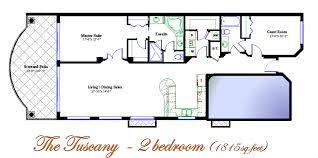 Bedroom Floor Plan by Oceanfront Suite 2 Bedroom