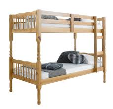 Betternowmcouk Forest Solid Pine Wood BUNK BED With  X Mattresses - Solid pine bunk bed