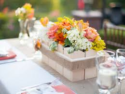 outdoor living flower centerpieces summer wedding table decor