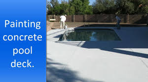 pool deck painting in scottsdale az youtube